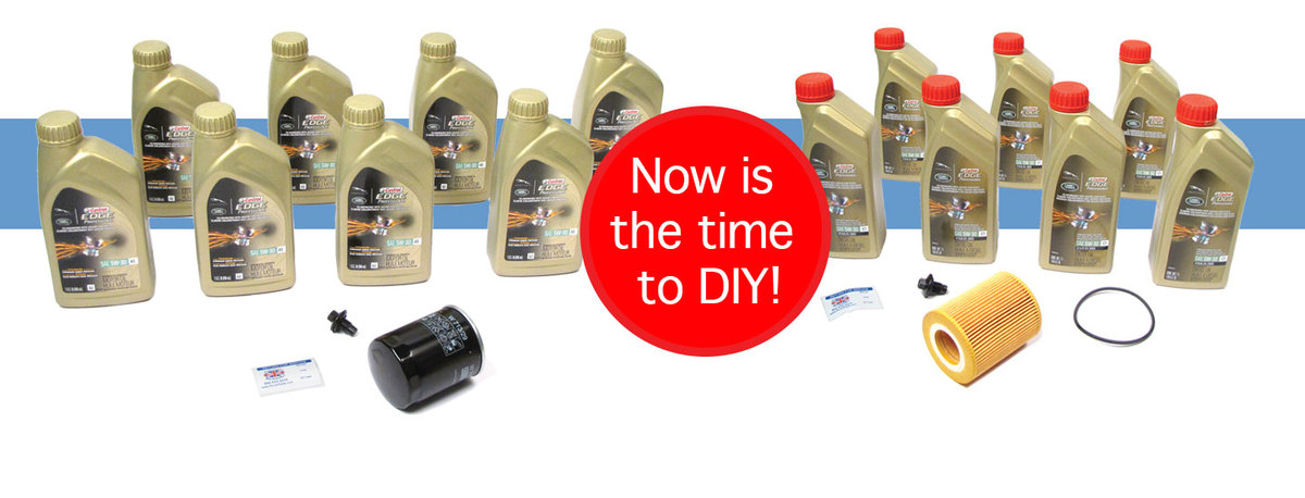 Oil Change Kits - Complete with Filter, Oil, and Reminder Sticker
