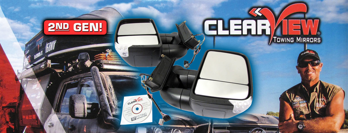 Clearview Towing Mirrors 2nd Gen Now In Stock!