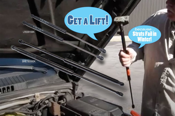 Tailgate and Hood Strut Replacements - Because Struts Fail in Winter!