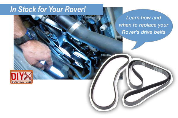 Learn how to and when to replace your Rover's drive belts with our how-to videos!