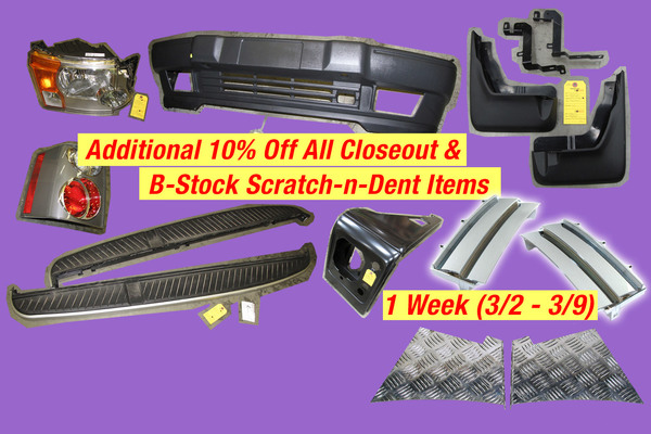 10% Off All Closeout & B-Stock Scratch-n-Dent Items - 1 Week (3/2 - 3/9)